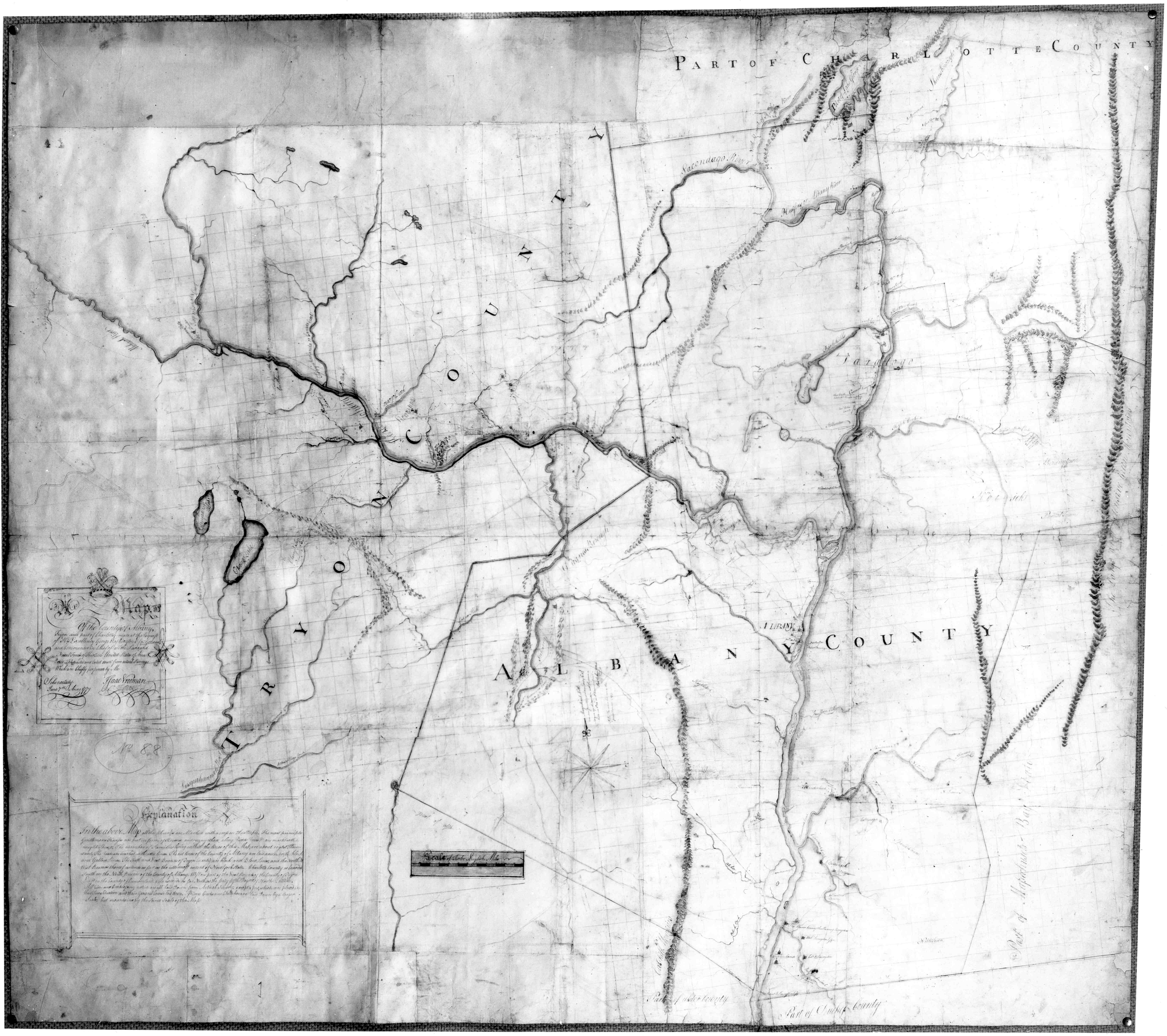 isaac vroomans 1779 map of upstate new york